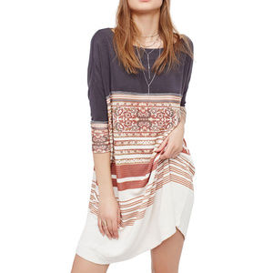 Free People Stepping Out Tunic Dress - L